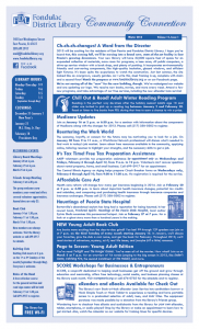 FDL Newsletter Winter 2013